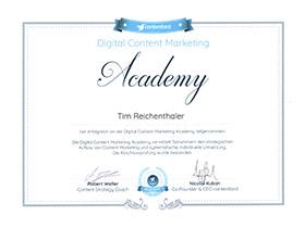 lr praxismarketing heidelberg zertifikat zertifizierung content marketing academy - Langenstein & Reichenthaler - Agentur für Praxismarketing