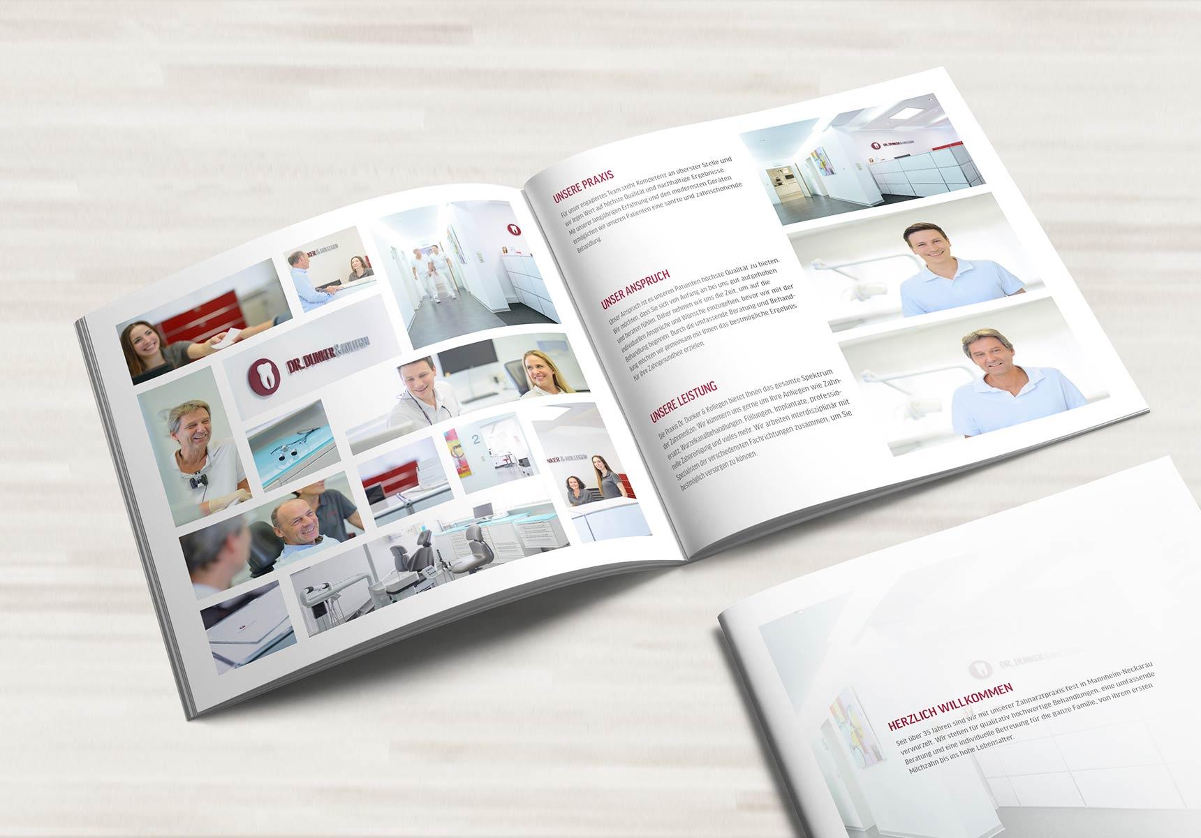 lr praxismarketing dunker und kollegen zahnarzt broschure - Langenstein & Reichenthaler - Agentur für Praxismarketing