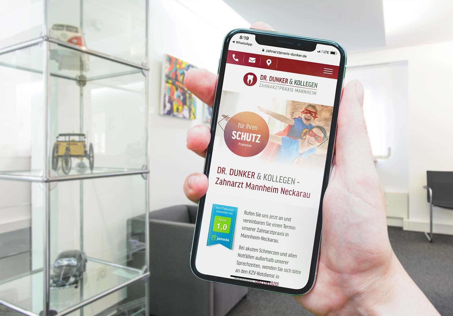 lr praxismarketing dunker und kollegen zahnarzt responsive webdesign - Langenstein & Reichenthaler - Agentur für Praxismarketing