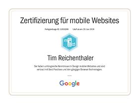 lr praxismarketing heidelberg zertifikat zertifizierung mobile websites google - Langenstein & Reichenthaler - Agentur für Praxismarketing