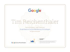 lr praxismarketing heidelberg zertifikat zertifizierung onlinemarketing grundlagen google - Langenstein & Reichenthaler - Agentur für Praxismarketing