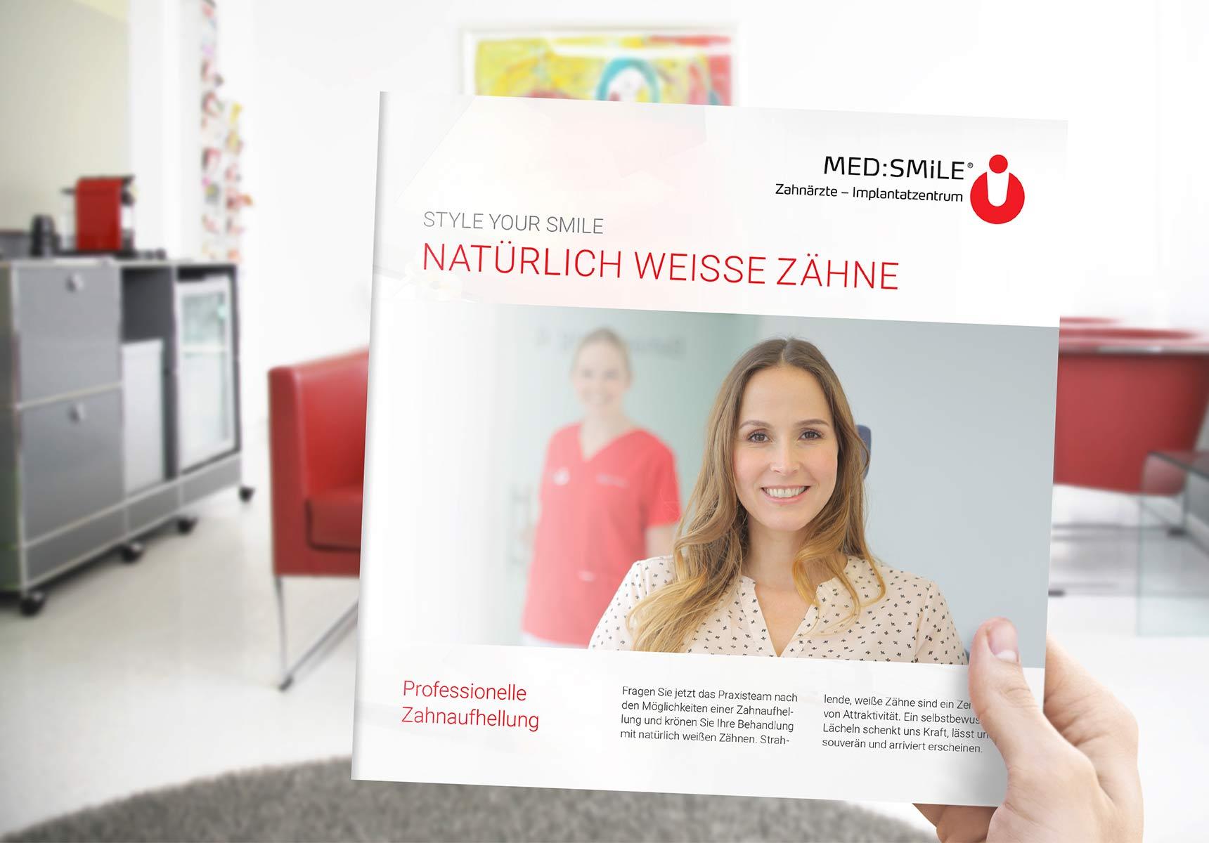 lr praxismarketing medsmile zahnarzt broschure bleaching 3 - Langenstein & Reichenthaler - Agentur für Praxismarketing
