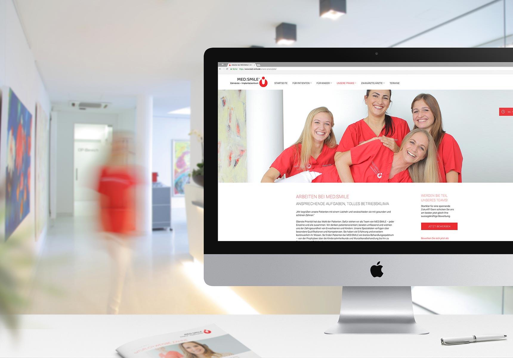 lr praxismarketing medsmile zahnarzt webdesign webseite jobs 1 - Langenstein & Reichenthaler - Agentur für Praxismarketing