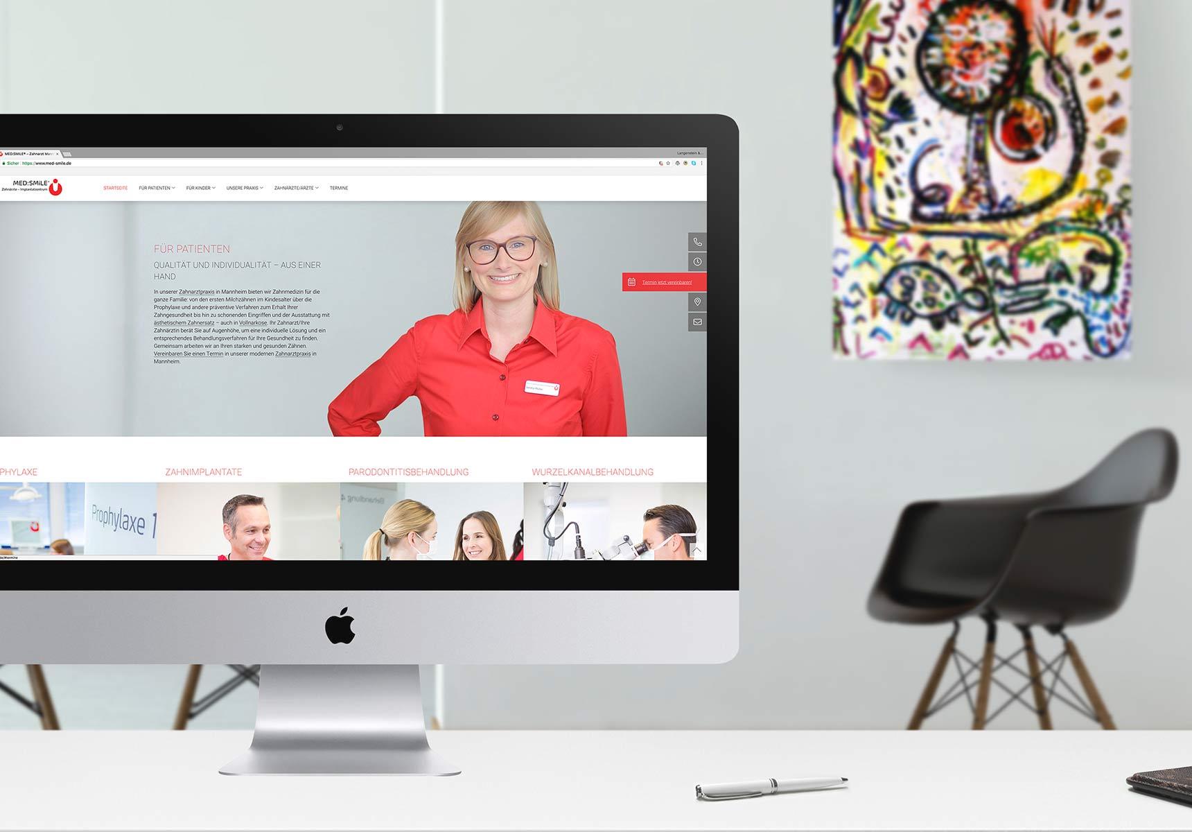 lr praxismarketing medsmile zahnarzt webdesign webseite 4 - Langenstein & Reichenthaler - Agentur für Praxismarketing