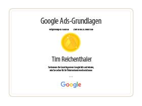lr praxismarketing zertifikat zertifizierung google ads grundlagen - Langenstein & Reichenthaler - Agentur für Praxismarketing