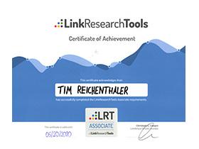 lr praxismarketing zertifikat zertifizierung lrt associate - Langenstein & Reichenthaler - Agentur für Praxismarketing
